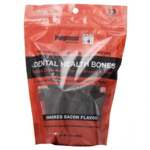Indigenous Pet Products Dental Health Bones Smoked Bacon Flavor
