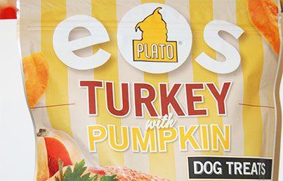 plato eos turkey with pumpkin dog treats